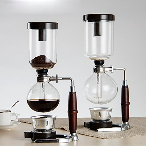 DecentGadgetR Coffee Syphon Vacuum Glass Maker 5 Cup